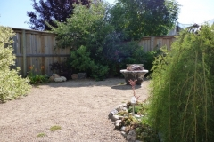 Lawnless Back Yard AFTER - Fire Pit